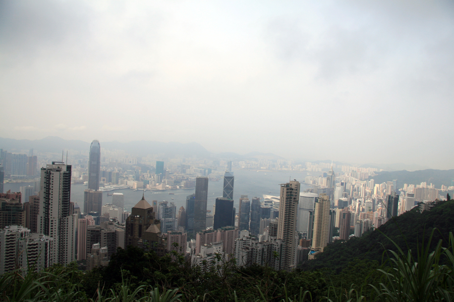 Hong Kong skyline from the Peak