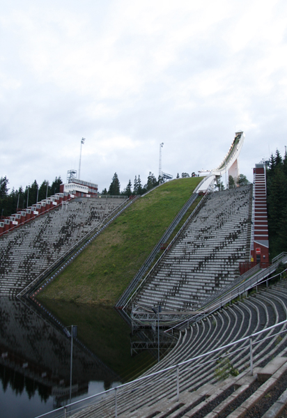 Bottom view of the ski jump