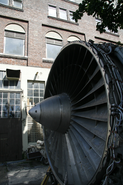 Air plane turbine laying around