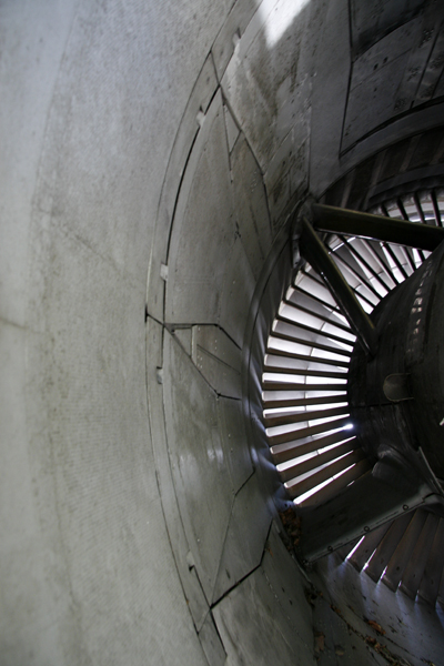 Rear view of the turbine
