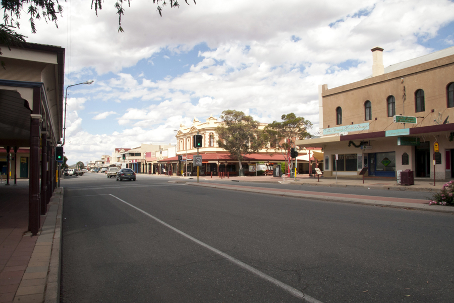 The main drag of town