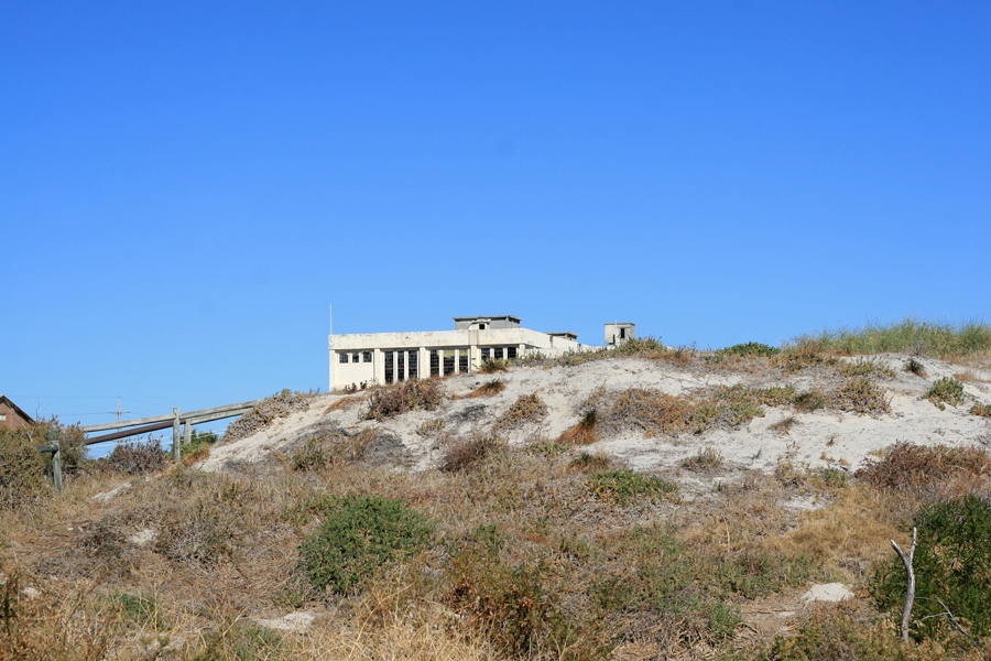 Old electricity plant in the sand dunes