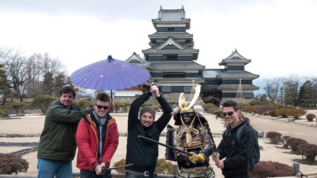 the boys met a samurai