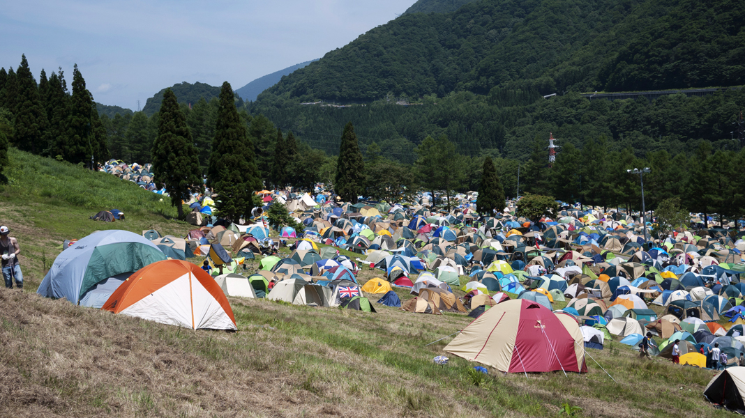 lower levels of tent city
