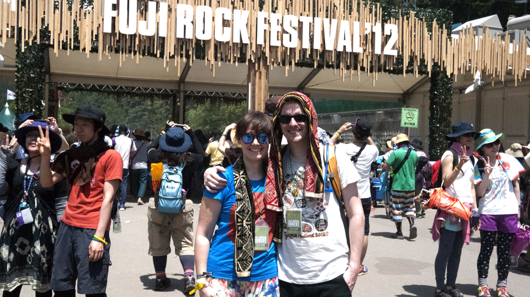 Tina and Garth and the Fuji Rock entry