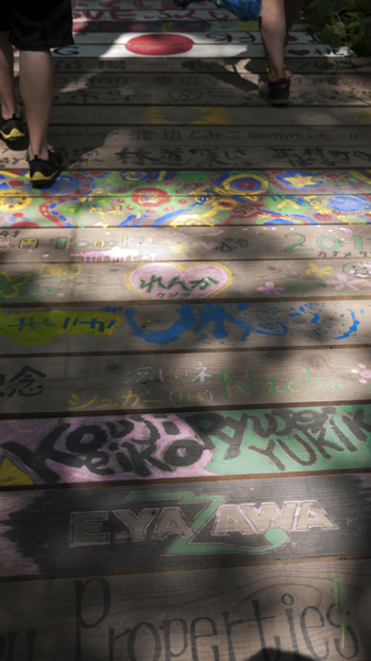 most of the boardwalk was painted by past rockers