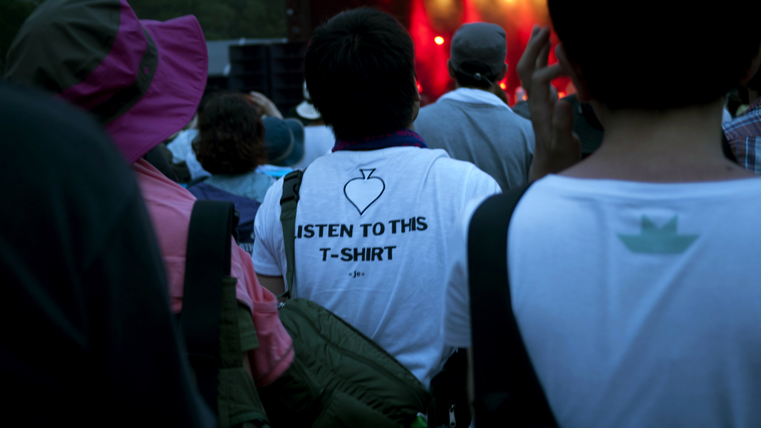 I loved this guys t-shirt