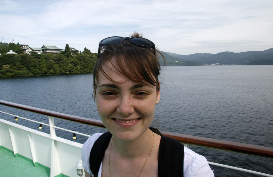 On the boat, Lake Ashi