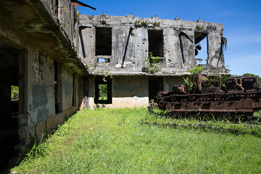 Japanese communications centre bombed during WWII